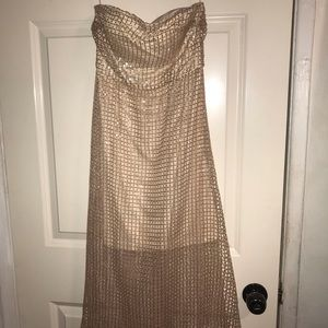 Fashion Nova strapless sequins dress
